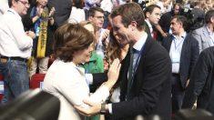 Soraya y Casado en el Congreso del PP. Foto: Europapress