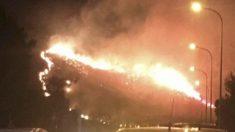 Incendio en la cala Estellencs de Mallorca.