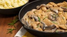 Receta de carrillera de cerdo asada con setas, un plato de carne exquisito