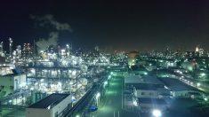 Zona con contaminación lumínica.