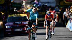 Cort Nielsen celebra su victoria en el Tour. (AFP)
