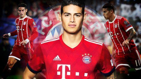 James Rodríguez, jugador del Real Madrid cedido en el Bayern.