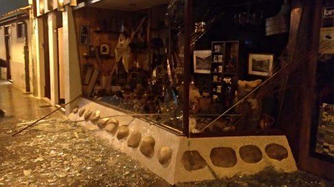 Daños causados por la explosión. Foto: Europapress