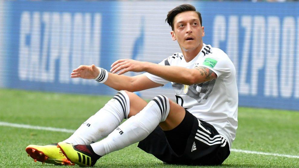 Ozil, en un partido de la selección alemana en el Mundial. (Getty)