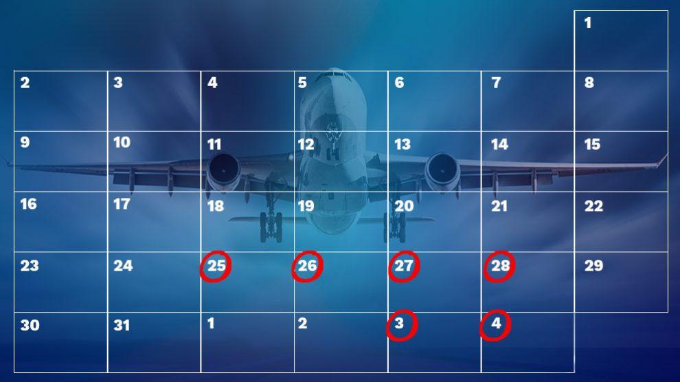 Calendario de huelgas de aerolíneas y aeropuertos en verano de 2018