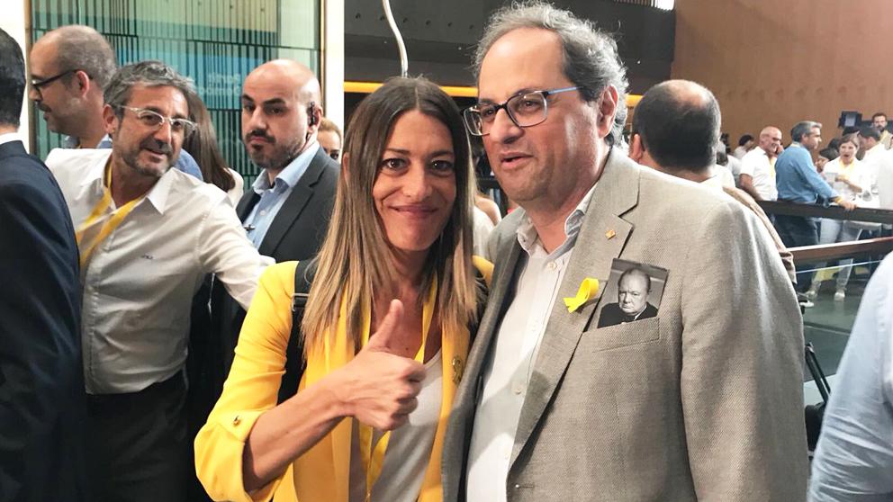 Miriam Nogueras y Quim Torra. (@miriamnoguerasM)