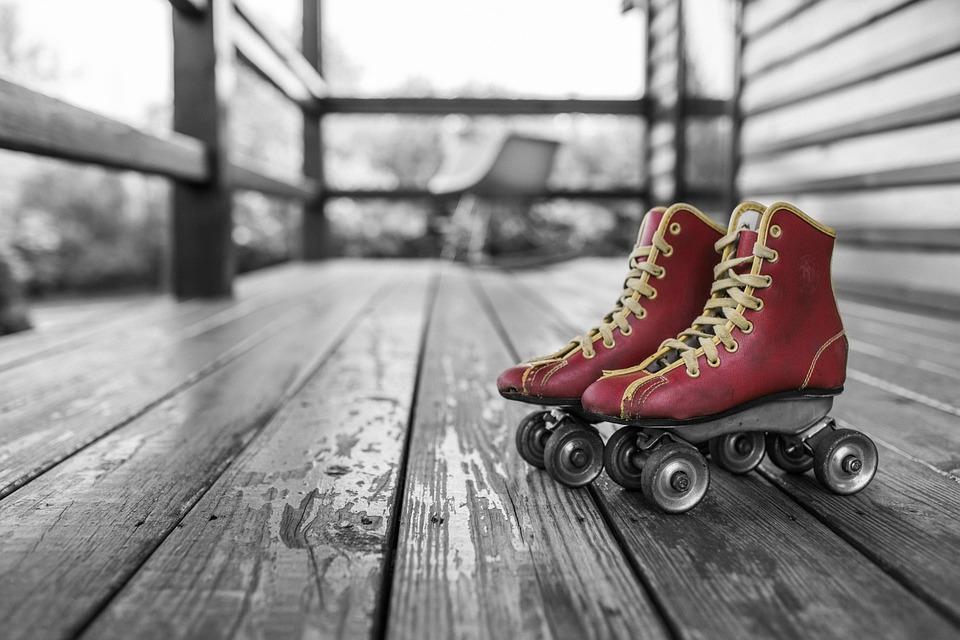 Los patines de ruedas.