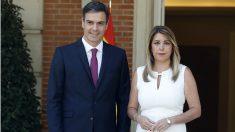 Pedro Sánchez y Susana Díaz, en Moncloa. (EP)