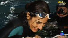 Pepa saliendo del agua tras superar el reto en 'Pura Magia'