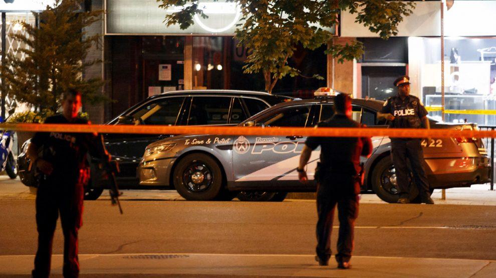 Lugar del tiroteo en Toronto. (Foto: AFP)