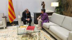 Quim Torra con la delegada del Gobierno en Cataluña, Teresa Cunillera. Foto: Europapress
