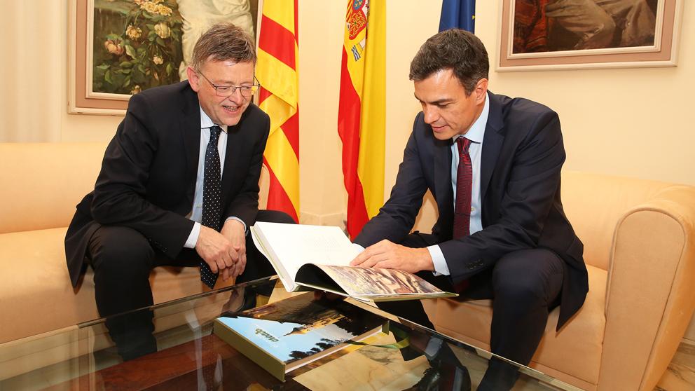 Ximo Puig y Pedro Sánchez. (Foto: Moncloa)