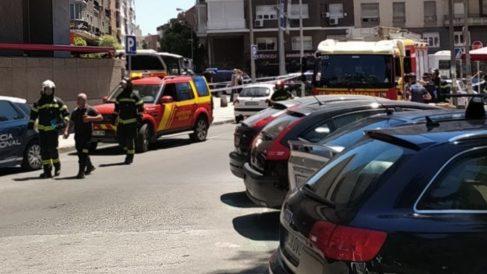 Efectivos de emergencias en la zona. (Foto. TW)