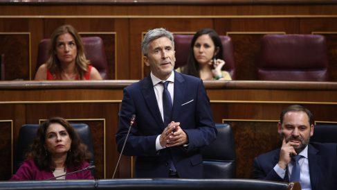 Fernando Grande-Marlaska, ministro del Interior, en el Congreso. (EP)