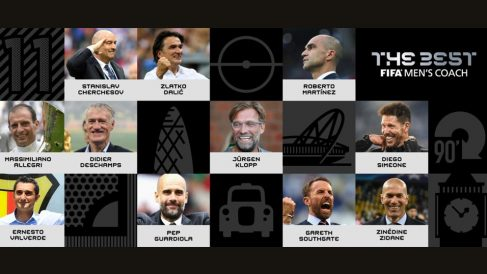 Los 10 entrenadores nominados al The Best.