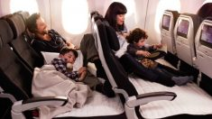 La aerolínea Air New Zealand crea asientos para que los niños duerman al lado de sus padres