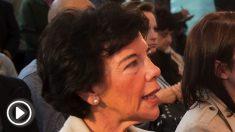 La socialista Isabel Celáa, portavoz del Gobierno. (Foto. PSOE)