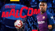 Malcom ya es nuevo jugador del Barcelona.