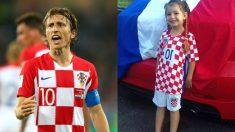 Luka Modric y Selene.