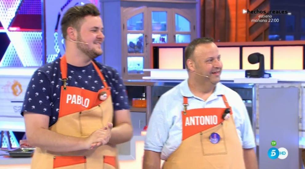 Pablo y Antonio, finalistas en 'Mi madre cocina mejor que la tuya'