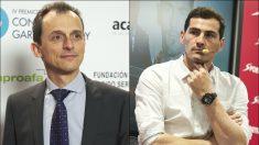 Pedro Duque e Iker Casillas.