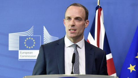 Dominic Raab, ministro británico para el Brexit (Foto: AFP)