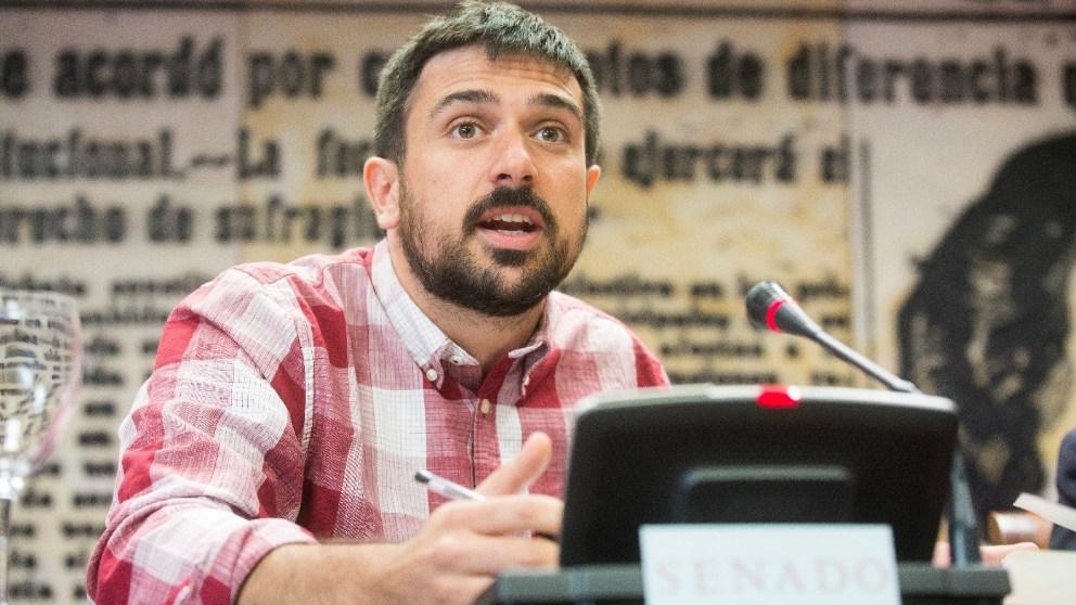Ramon Espinar,  portavoz de Podemos en el Senado. Foto: Europa Press