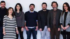 Representantes de Podemos e IU, en el centro, Ramón Espinar, debatiendo sobre la candidatura de 2019. (Foto. Podemos)