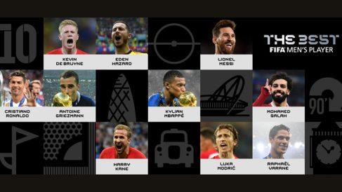 Los futbolistas nominados al The Best.