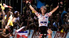 Julian Alaphilippe se impuso en la primera etapa de los Pirineos. (AFP)