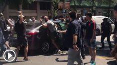 Agresión de taxistas a Uber en Barcelona
