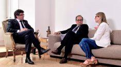 Carles Puigdemont, Quim Torra y Elsa Artadi. Foto: Europa Press