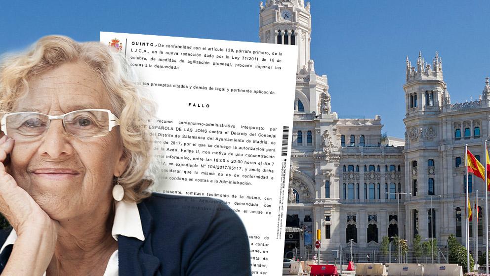 El Ayuntamiento de Carmena condenado por discriminar a Falange