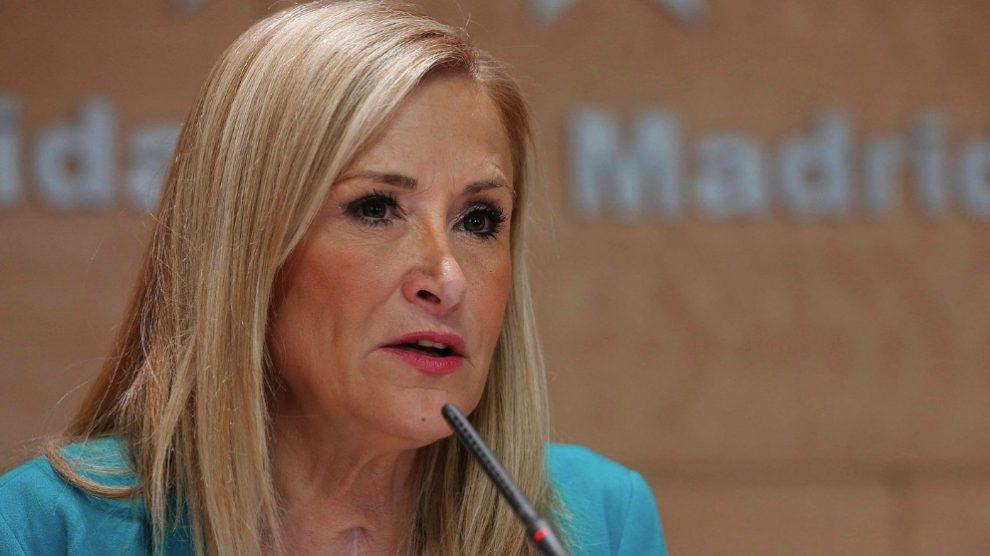 La ex presidenta de la Comunidad de Madrid Cristina Cifuentes. (Foto. Comunidad)