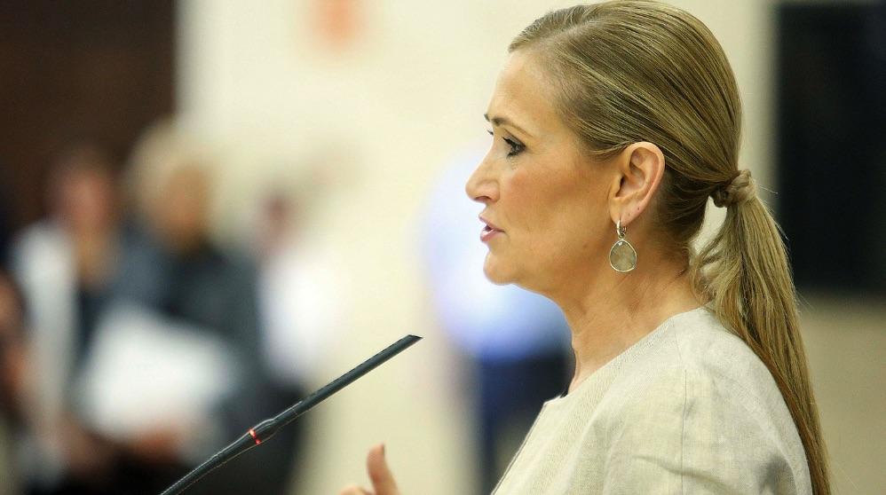 La ex presidenta de Madrid Cristina Cifuentes. (Foto. Comunidad).
