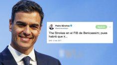 El tuit de Pedro Sánchez que Twitter ha rescatado con motivo de su viaje al FIB en avión oficial