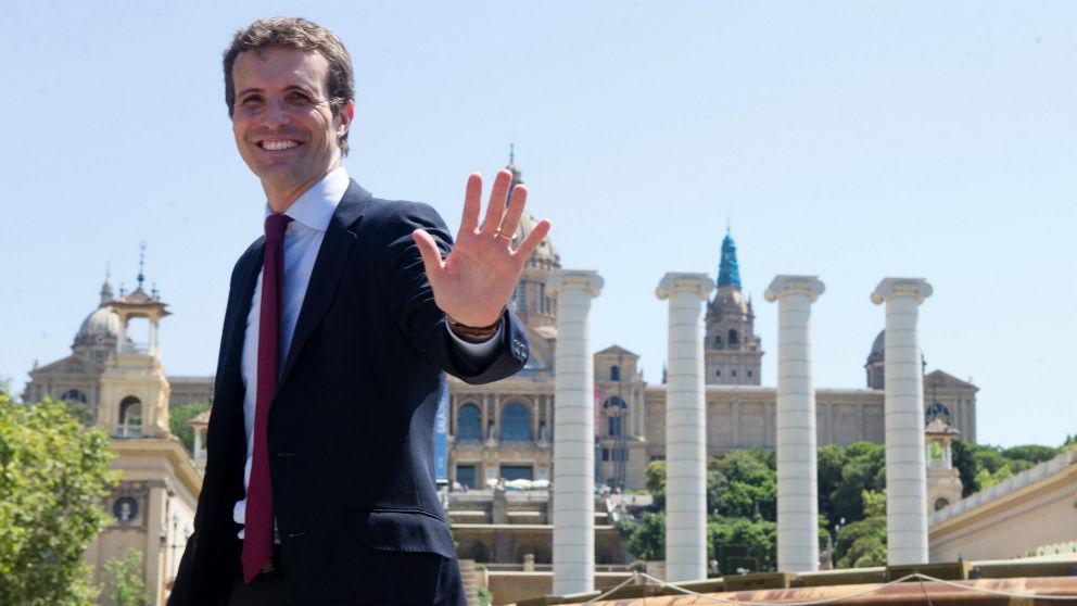 Pablo Casado, en Barcelona.