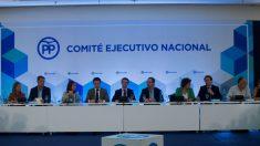 Reunión del Comité Ejecutivo Nacional del PP, este jueves.