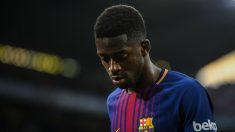 Dembélé, durante un partido del Barcelona. (Getty)