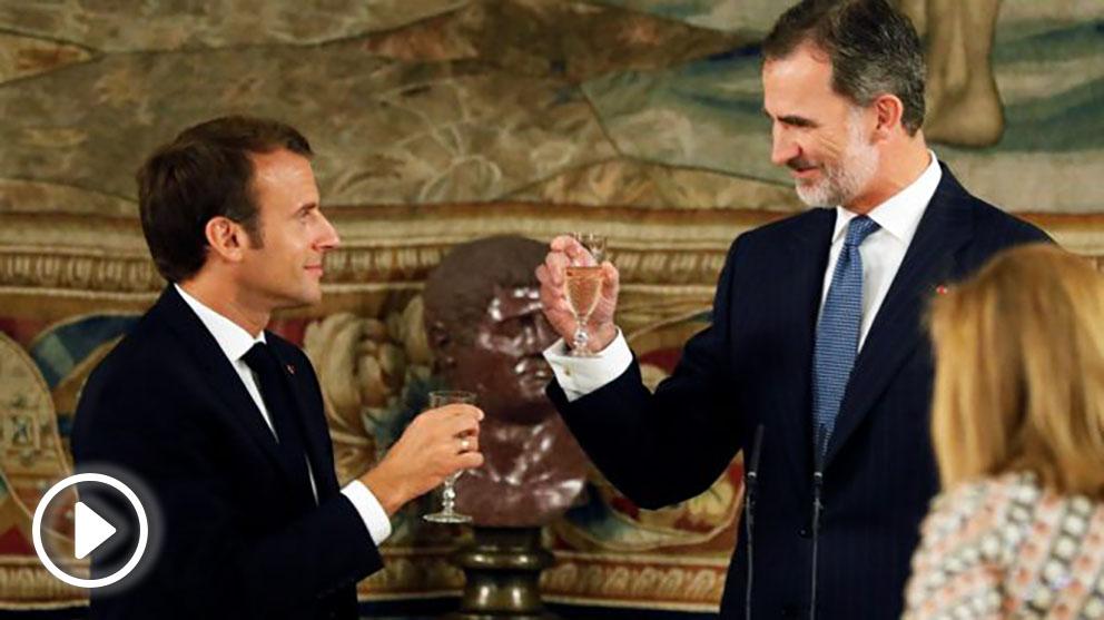Emmanuel Macron y Felipe VI (Foto: EFE)