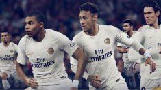Mbappé y Neymar, con la nueva camiseta del PSG.