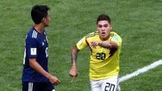 Quintero celebra un gol con Colombia en el Mundial. (Getty)