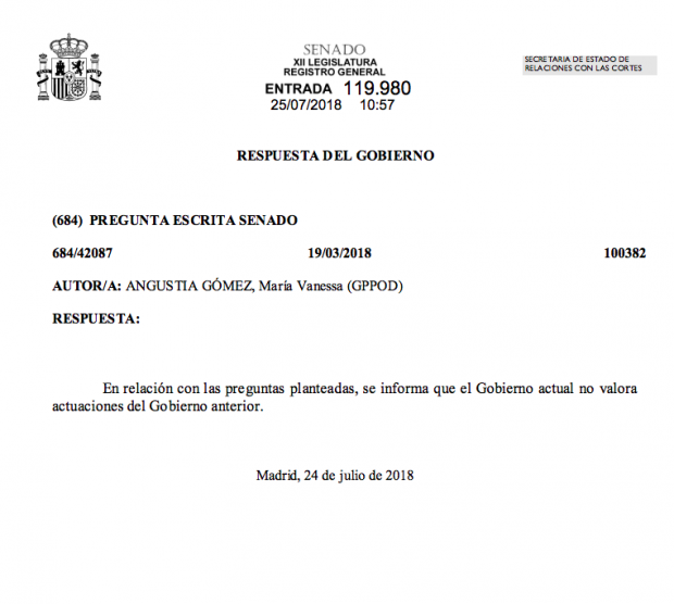 El Gobierno niega a Podemos datos internos sobre los disturbios por la muerte del mantero de Lavapiés