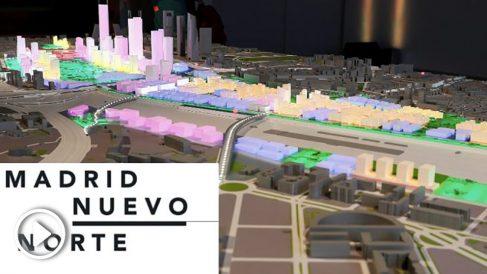 El nuevo 'skyline' de Madrid tras la Operación Chamartín. (Foto. EFE)