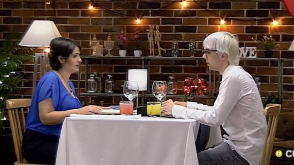 David y Karen en su cita en 'First Dates'