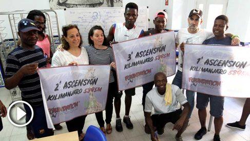 La fundación Luz Casanova y la Foundation Invencible, juntos en un reto solidario. (Foto y vídeo: Enrique Falcón)
