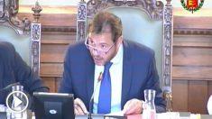 Óscar Puente, alcalde del PSOE de Valladolid, durante un pleno