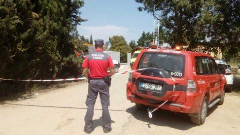La Policía Foral de Navarra investiga las causas del accidente. Foto: Europapress