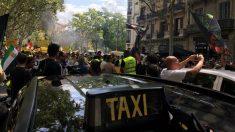Huelga del sector del taxi en Barcelona (Foto: EP)