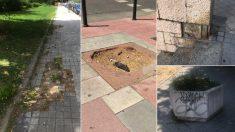 Varios avisos que no son atendidos por el Ayuntamiento. (Foto. Madrid)